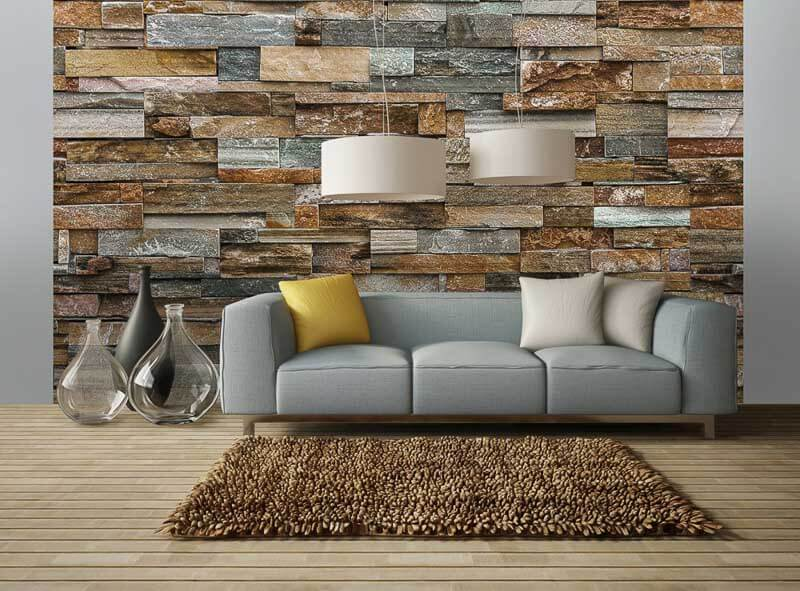 fototapet -Colorful-Stone-Wall