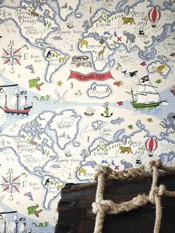Tapet-treasure-Map-
