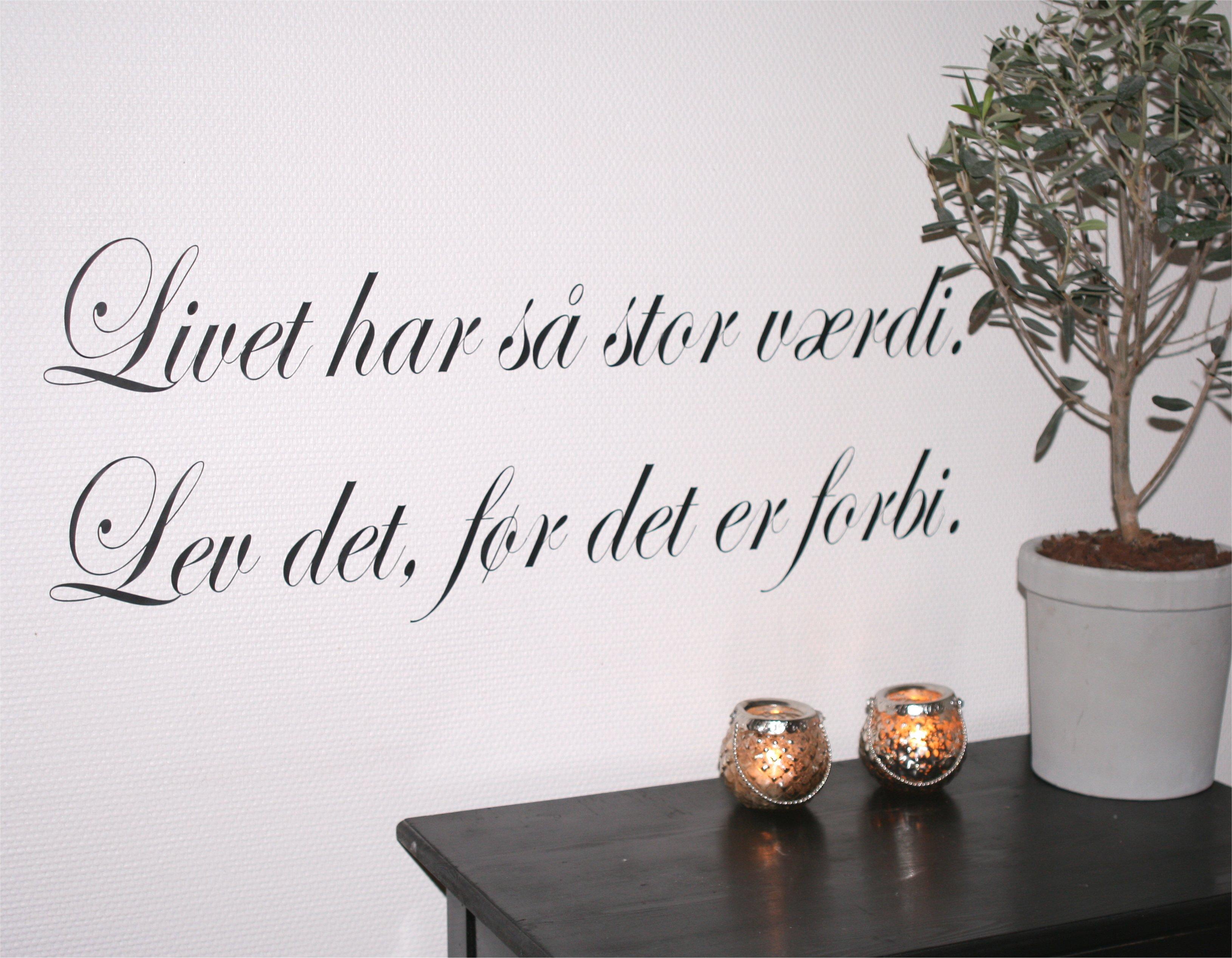 citater om livets træ Wallsticker   livet har så stor værdi | Tapet og Kunst citater om livets træ