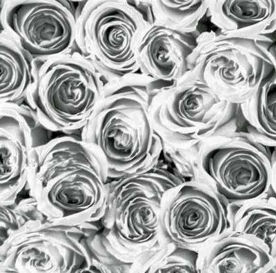 selvklæbende folie Roses White Grey