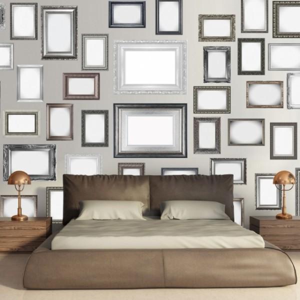 fototapet creative collage frames-2