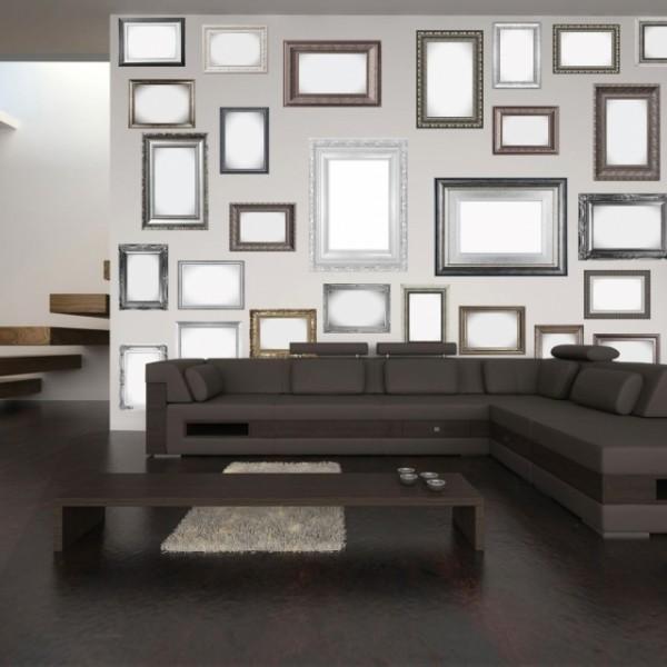 fototapet creative collage frames-4