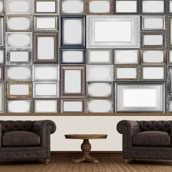 fototapet creative collage frames