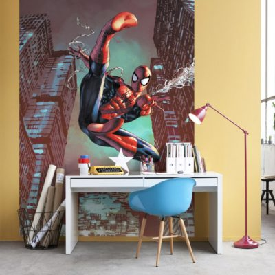 fototapet-spiderman-jump