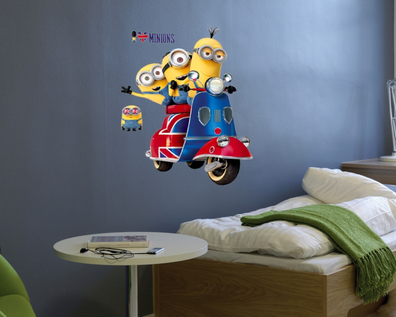wallstickers-minions-scooter