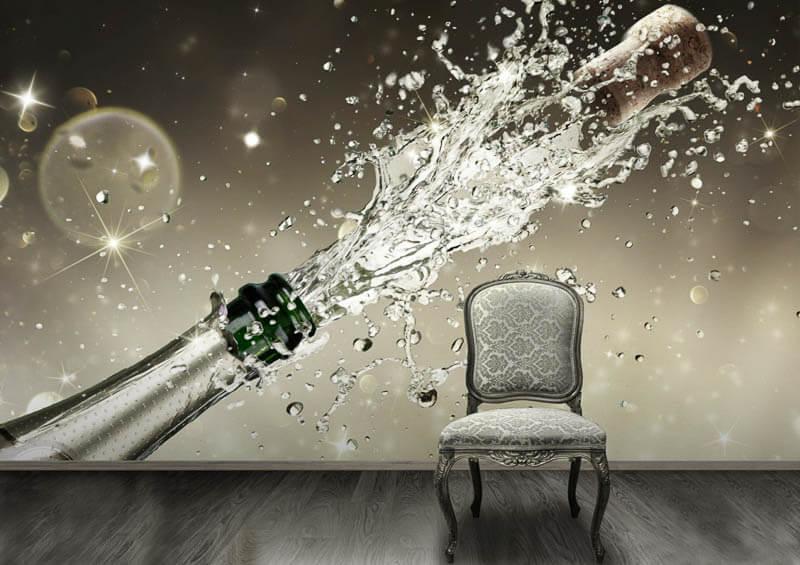 fototapet champagne