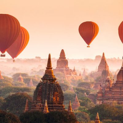 fototapet ballons over bagan