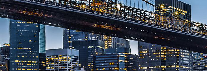 fototapet blue hour new york