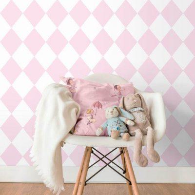 Tapet Treboil harlequin pink-1