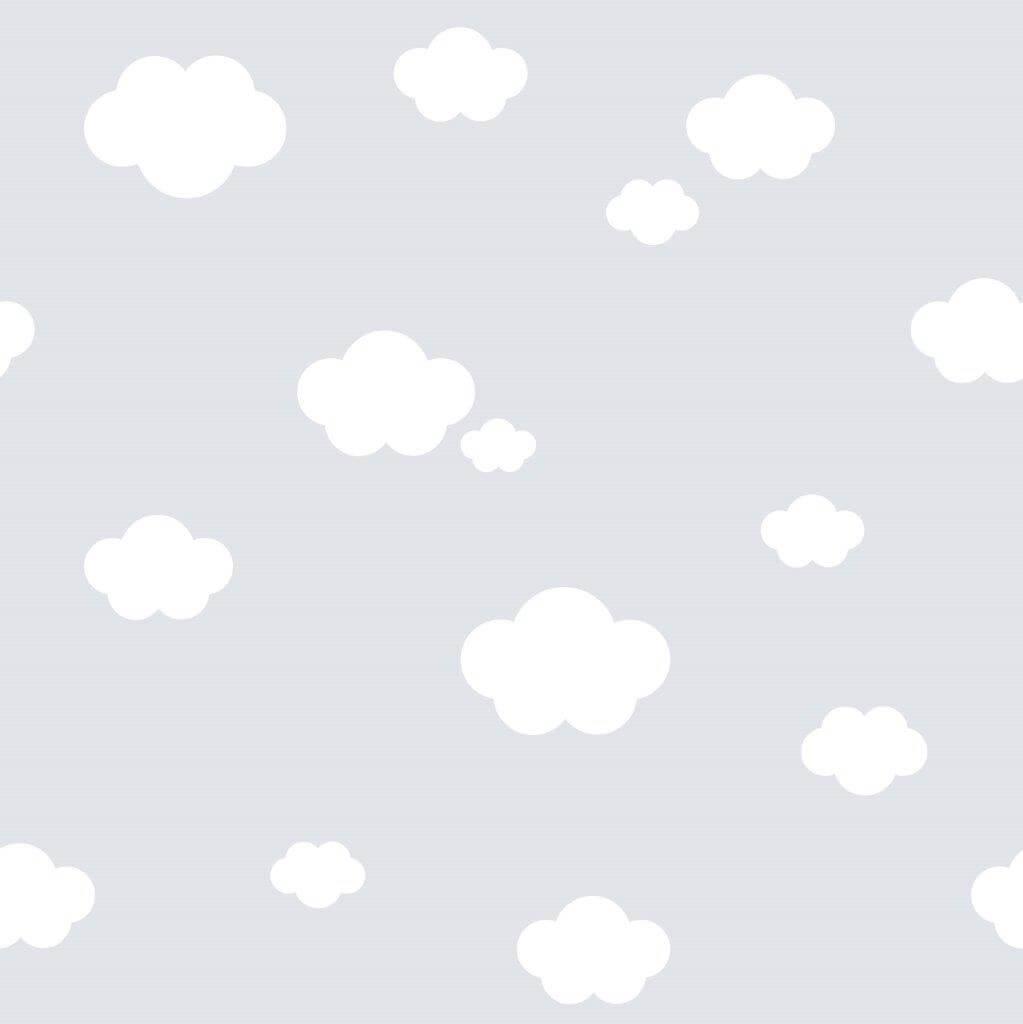 Tapet treboil skyer grey
