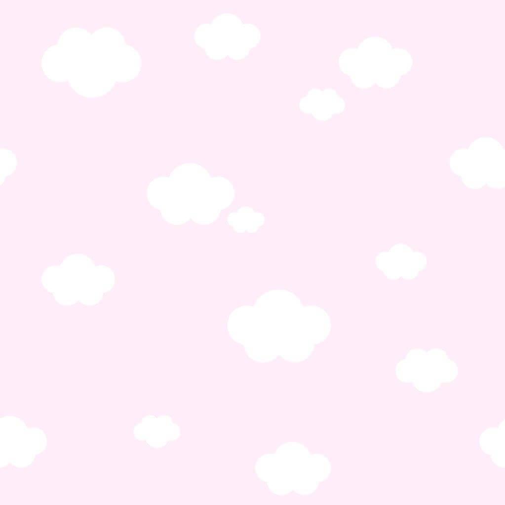 Tapet treboil skyer pink