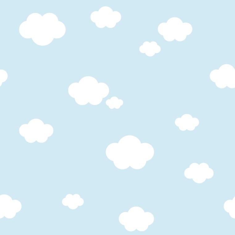 tapet blå skyer