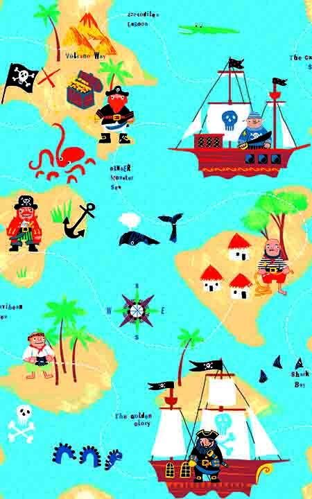 Selvklæbende fole Jack en rigtig sød ffolie til børn med sørøverskibe og sørøvere