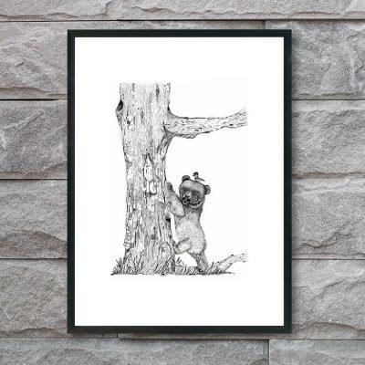 plakat-med-bjørn-og-sut