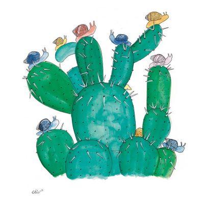 plakat-med-grøn-kaktus