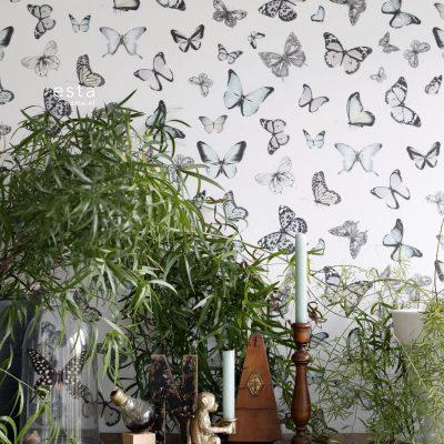 tapet med sommerfugle 138875
