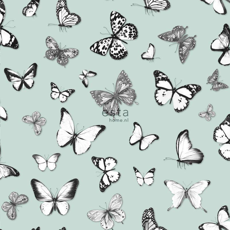 tapet med sommerfugle 138876