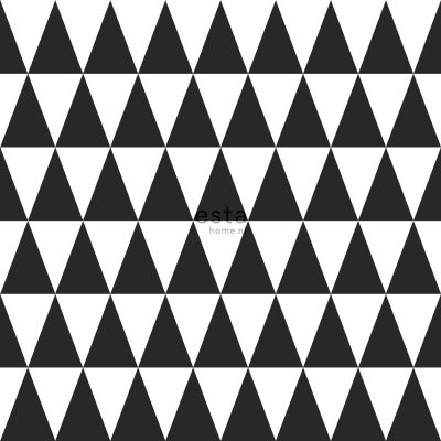 tapet med trekanter sort hvid 128845