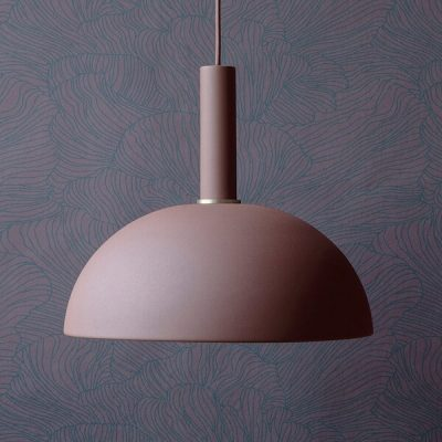 Ferm tapet Coral Wallpaper - Bordeaux:Dark Blue