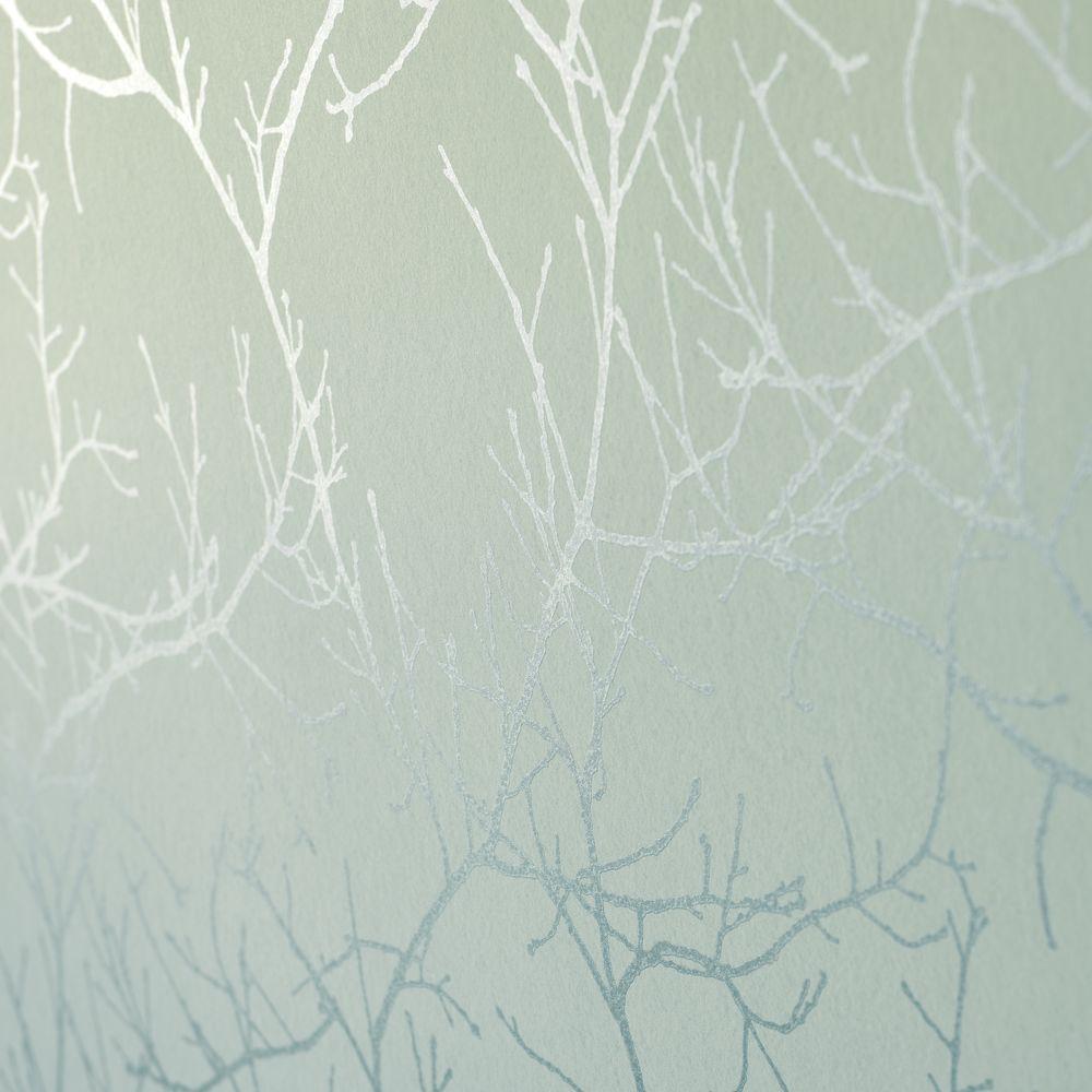 tapet og kunst Tapet Casadeco turkis tapet med grene | Tapet og Kunst tapet og kunst