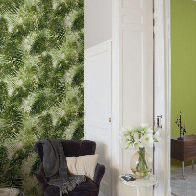 Tapet med grønne palmer 42503-10