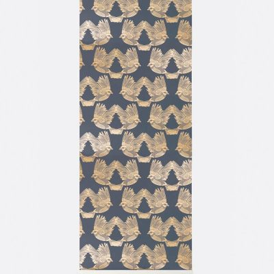 Ferm Birds Wallpaper - Deep Blue : Gold