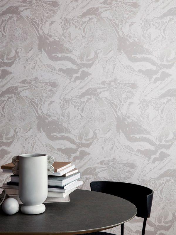 Ferm Marbling Wallpaper - Beige