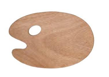 Maler træPalette i Oval