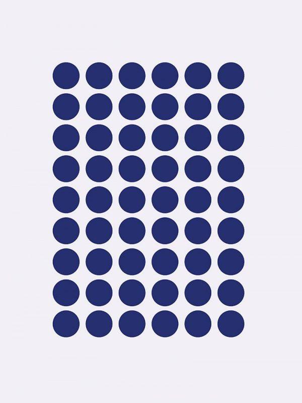 Mini Dots Wallsticker - blå
