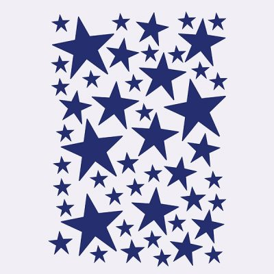 Mini Stars Wallsticker - blaa