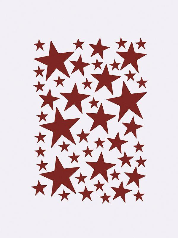 Mini Stars Wallsticker - rød