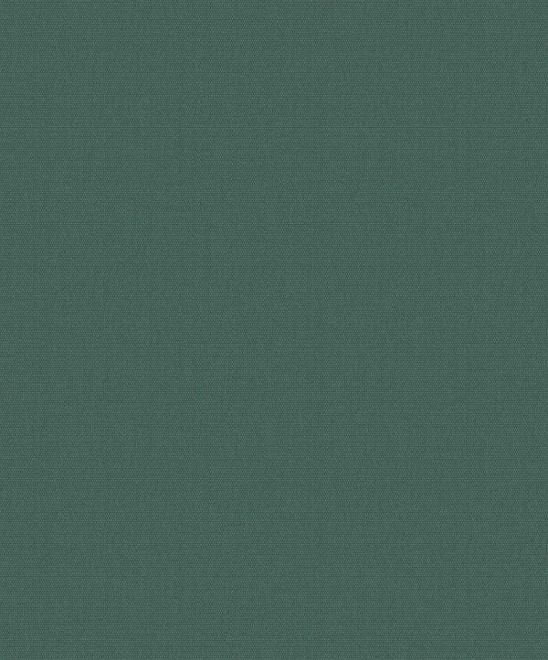Tapet med mørkegrøn bund og tætsidende prikker i skinnende lys grøn perlemor