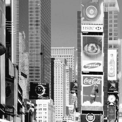 New York Time Square højhuse , taxaer, fototapet til dør
