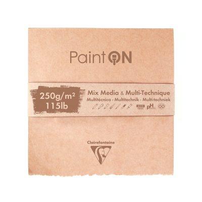 Paint on mix media og multi-technique blok med hvidt natur- sort og gråt papir