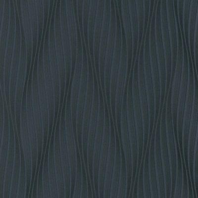 flot sort strukturtapet i et retromønster med glitter