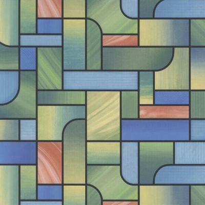 selvklæbende vinduesfolie i farvet felter